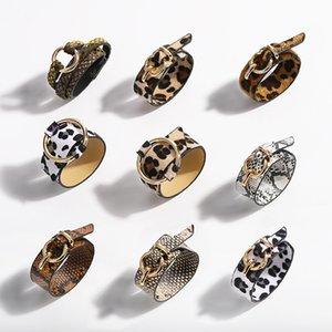 LURUIXU Moda Leopard Snake Skin wrap Bracelet para as Mulheres Homens Punk Estilo Pulseira Bangles Pulseiras para festa de jóias presente Unisex