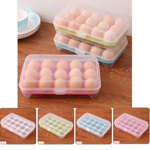 Boxen stapelbare Box Crisper Küche 15 Egg Grid Egg Organizer Hot Layerbox Einzel Multifunktionale Behälter zur Lagerung