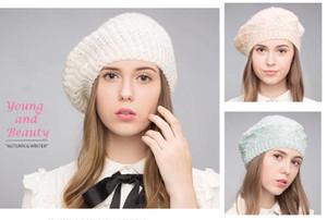 Standı Odak Moda Tığ Örme Beanie Bere Akrilik İnci Lurex Sıcak Şapka Kap Kadınlar Bayanlar Güz Kış Pembe Nane Bej El Yapımı