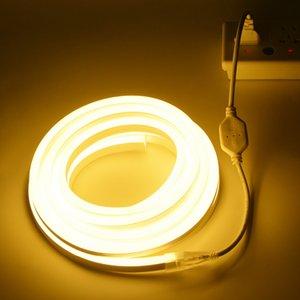 LED Neon Sign Lamp 220V 2835SMD Flexible Neon Lamp Light 1-10M Christmas Lights Tape Home Outdoor Decoration Lighting Ribbon