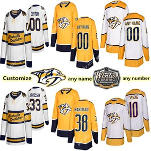 Custom Nashville Predators jerseys 33 ARVIDSSON 4 ELLIS 38 HARTMAN 64 GRANLUND 15 SMITH Customize any number any name hockey jersey