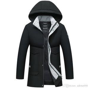 Winter Coat Men Windbreaker Thicken Jacket Men's Streetwear Hiphop Military Trench Coats Long Parka jaqueta masculina