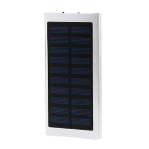 Ultra-Thin Matal Solar Power Bank External Battery Pack Dual USB