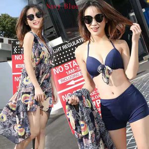 Split Swimsuit Three-piece Bikini Conservative Swimsuit