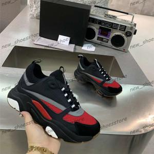 Mode Hommes Femmes Chaussures Toile Calfskin Chaussures Casual Homme Femme Mode Sneaker Couleurs mélangées Blanc B22 Chaussures en tricot technique Zapatos