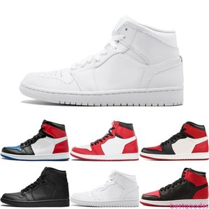 Top 3 Banned Bred Red Chicago Royal Mid Hare 1 OG Mens Basketball Shoes Sneakers Shattered Backboard Sports Designer Trainers Shoes US 7-13