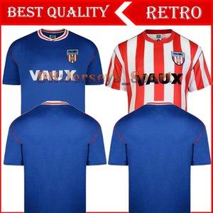 1990 Sunderland camisetas retro fútbol del hogar de distancia 90 91 Sunderland Michael Gray Eric Gates clásico de la vendimia camisas uniformes Jersey hombres de fútbol