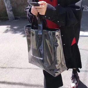Diseñador nuevas mujeres de gran capacidad bolso señora Casual Totes Oversize bolsas cuadrado PVC Kraft plisado moda bolso femenino
