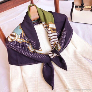 New wholesale designer trend women's linen classic scarf new men's and women's style necklaces 180*70 with box 3 colors