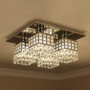 Modern simples design quadrado luzes de teto de cristal lamparas plafons para sala de estar quarto luminarias para salão
