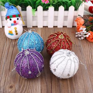 Christmas Tree Foam Glitter Ball Baubles Xmas Ornaments Multicolor Creative