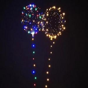 Бобо шар LED Line Строка Стик Волна Бал воздушный шар загораться Рождество Хэллоуин Свадьба День рождения Главная партия украшения VT0519