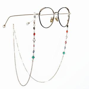 미끄럼 방지 안경 로프 스트랩 체인 스포츠 안경 액세서리 목 코드 75CM 10PCS / 부지 패션 금속 라인 석 선글라스 체인