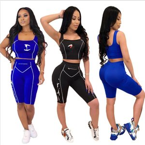 2020 NEW Womens clothing sleeveless shorts outfits 2 piece set tracksuit jogging sportsuit sweatshirt tights sport suit women clothes