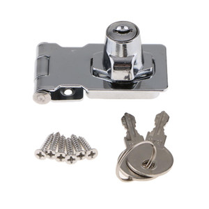 Aço inoxidável com chave Door Lock Segurança Anti-roubo de bloqueio Buckle Locker