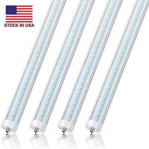 25pcs 8ft LED 가벼운 튜브 v 모양 72W 6000K 단일 핀 FA8 기본 T8 T10 T12 LED 형광 전구 교체 150W 동등 물