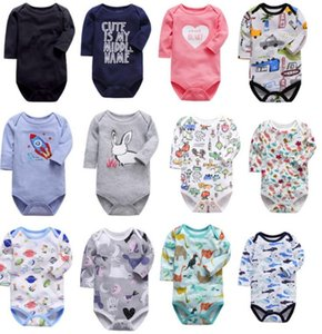 children infants Cartoon Long-sleeved romper baby jumpsuit cotton clothes Short Jumpsuit Sleeveless Romper Summer Overall Catsuits E8602