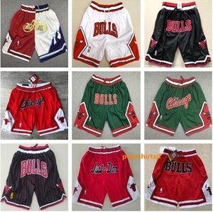 Chicago SADECE DON Şort Hip Hop Hareket Rüzgar boğa Şort Çizgili Ağ Astar Bölünmüş Ortak Sporlar Pantolon Erkek Basketbol Pantolon