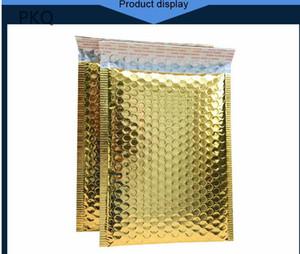 30pcs / lot 18x23cm ouro cor Poly bolha Mailer roxo auto selar envelopes acolchoados / Mailing sacos acolchoado Mailers envio Envelope