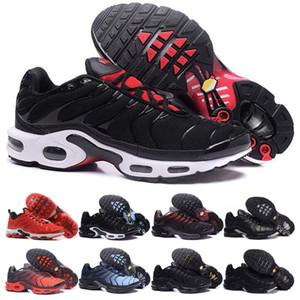 أعلى جودة رجل أسود أحمر الاحذية تنفس شبكة الرجال الثلاثي أسود أحمر برتقالي أزرق الشظية Chaussures أوم تينيسي مدرب الرياضة أحذية رياضية