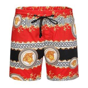 20ss para hombre Pantalones cortos deportivos diseñador del verano pantalones cortos de playa para hombre de la tela escocesa de impresión de tela al aire libre de los guardapolvos de los pantalones holgados y cómodos