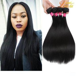 A Longjia Products Brazilian Straight 100 %Wavy Human Hair Weave Bundles Hair Extensions 8 &Quot ;-28 &Quot ;Natural Color Hair Wholesa