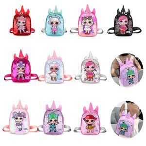 패션 어린이 유니콘 학교 가방 키즈 배낭 아이 귀여운 만화 배낭 방수 듀얼 어깨 가방 소녀 크로스 바디 가방