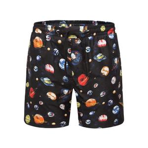 Pantalon de plage d'été de luxe shorts de marque hommes avec la voie lactée shorts planète designer de mode pantalon lettres longueur au genou lâche pantalon