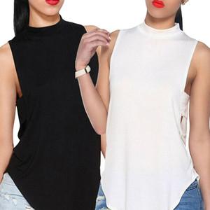 Moda Womens Ladies Backless alta Neck Tops Cortar Tanque T-shirt Bralette