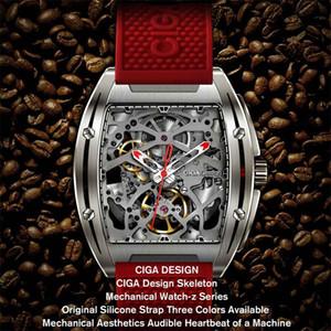 Original Xiaomiyoupin Ciga Watch z Série Z Regardez Type de tonneau double face Squelette automatique Mécanique Mécanique Watch Watch 3013926