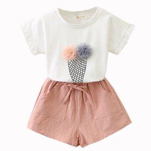 Set di abbigliamento per ragazze 2019 estate gilet in cotone su due pezzi senza maniche bambini set di bambini casual moda ragazze vestiti vestito gonna