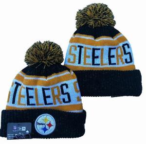 Vente en gros Top qualité Hip Hop Sport Steelers Beanies Hommes Femmes Baseball Cuffed Knit Chapeaux pas cher Mode Hip Hop hiver chaud Caps Bonnet Crâne