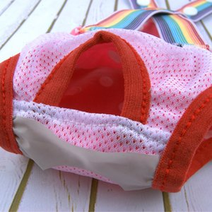 Pet Physiological Pants Polka Dot Striped Female Dog Underwear Sanitary Diaper Female Dog Diaper Cotton Sanitary Pants Pet Dog