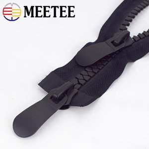 Meetee 8 # Смола Zipper 70/80/90/100/120 / 150см Дважды открытая Длинная молния вниз пальто куртки двойной ползунки для швейных принадлежностей одежды AP097