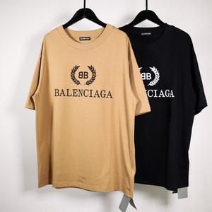 새로운 도착 BLC 고급스러운 디자인 밀 인쇄면 짧은 소매 t- 셔츠 남성 여성 패션 통기성이 t- 셔츠 사이즈 XS-L을 풀 스포티