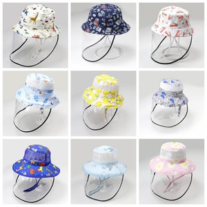 Baby Sun Hat Face Screen Wide Brim Bucket Hat UV Sun Protection Hats Summer Children Play Hat 11 Designs DW5498
