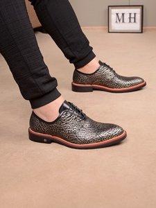 lyakClassic men's flat sole casual european fashion Frenulum leather shoes Formal men's leather shoes fashion Causal shore