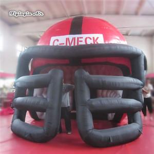 Personalizado Clube Entrada inflável do capacete de futebol do túnel 5m Altura Grande Blow Up Tunnel Publicidade Para Partida
