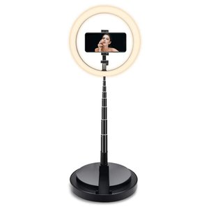 """26CM 10"""" LED Selfie Ring Light For Live Stream Makeup Video Dimmable Beauty Ringlight with Tripod Stand & Phone Holder For iPhone Android"""
