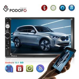 Podofo Android 8.1 Double Din Car Radio7 '' HD 1080p Car DVD Player com Bluetooth WIFI GPS FM Radio Receiver + 8 IR LED Vista Traseira