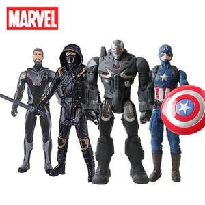 30 cm Marvel Avengers Infinity Savaş Siyah panter Thanos Spiderman Hulk Demir Adam Kaptan Amerika Action Figure Oyuncaklar Bebekler SH190916