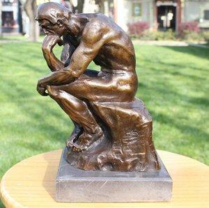 Meditação em arte thinker Cobre Artesanato Ornamento estátua de bronze ornamentos Mobiliário Doméstico presentes do negócio