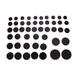 10/5 / 2Pc ronde magnétique Réfrigérateur Autocollant Fit Cabochon en verre 25-58Mm aimant DIY réfrigérateur aimant Tableau noir autocollant pour réfrigérateur Magn