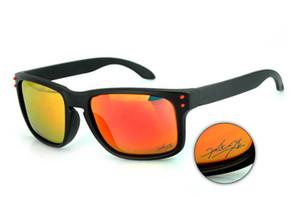 Горячее надувательство Holbrook мода качество солнцезащитные очки бренд мужские / женские роскошные OO9102 поляризованные солнцезащитные очки черная рамка огонь иридиевый объектив 55 мм