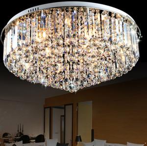 حار مبيعات جولة flushmount K9 الكريستال الثريا الحد الأدنى الحديثة مصباح LED يعيشون الثريات غرف النوم LLFA