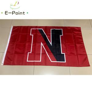 Bandiera di NCAA Huskies nord-est Recentemente poliestere Flag 3ft * 5ft (150 cm * 90 cm) Bandiera Banner decorazione volare casa giardino regali all'aperto