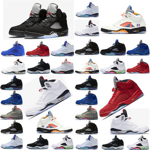 Nike Air Max Retro Jordan Shoes Neue Mensbasketballschuhe 5 5s INTERNATIONAL Anzug Blue Suede Camo Grau OG Schwarz Metallic CDP Sneaker Trainer Sports 7-13