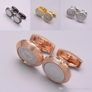 Luxury Men Shirt Cufflinks Jewelry Fashion Brand Copper Cuff Links For Wedding Groom Gift Cufflink 1 Pair