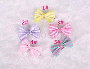 Cheveux Cheveux Clip Clip Pet chat Chiot Toilettage Bols à rayures pour accessoires de cheveux Designer 5 couleurs DA175