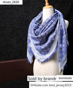 Factory Sell brand design classic Letter pashmina scarf shawl women metal printing Wool cashmere scarf wraps 140*140 14 colors
